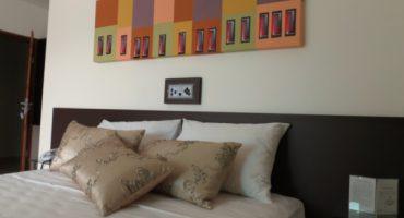Cama de Casal da Suíte Luxo Duplo do Jequitiara Hotel em Itaobim MG