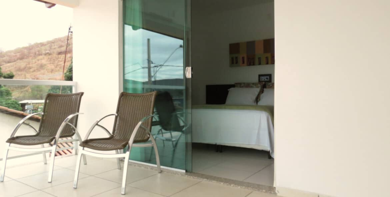 Suíte Luxo Duplo do Jequitiara Hotel em Itaobim MG