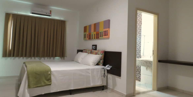 Suíte Standard Single do Jequitiara Hotel em Itaobim MG
